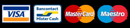 VISA - BANCONTACT - MASTERCARD - MAESTRO